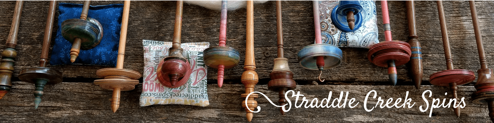 A collection of artisan spindles by John Hunter