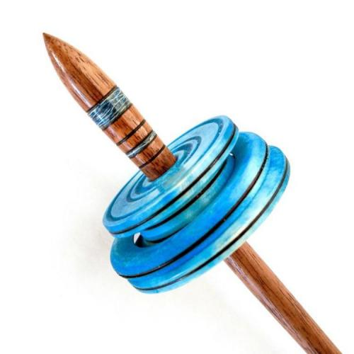 Chac-Chac with a Silver Maple Whorl Dyed Blue and Denim Embedded Shaft