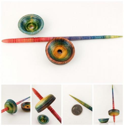 Interchangeable Whorl Spindle with Whorls