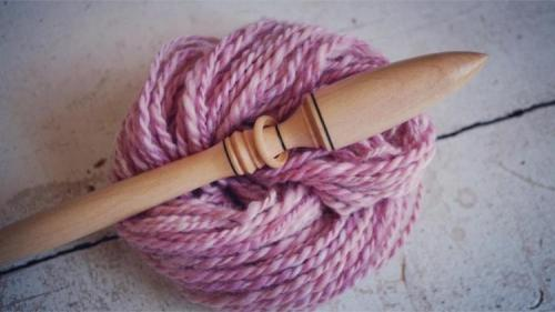 Customer Provided: Sara's Spindle with the Fiber All Spun Up